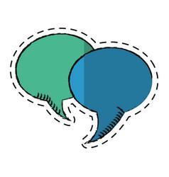 Cartoon bubble speech communication dialog vector