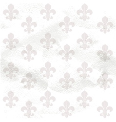 Fleur-de-lys seamless background on grange paper vector