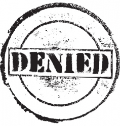 Denied stamp vector