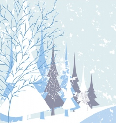winter nature vector image