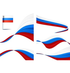Russian flag vector