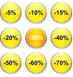 Discount round icons vector