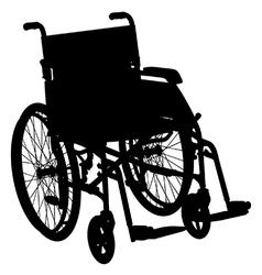 Wheelchair vector image