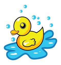 Cartoon rubber duck vector