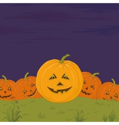 Halloween pumpkins army vector