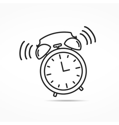 Alarm clock line icon vector