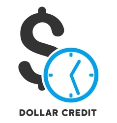 Dollar credit icon with caption vector