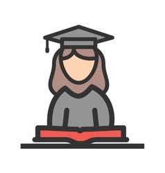 Female student vector