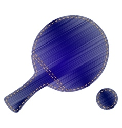 Ping pong paddle with ball vector