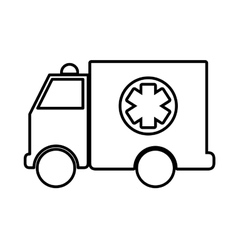 Ambulance icon medical and health care concept vector