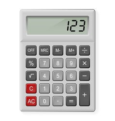 Gray Calculator vector image