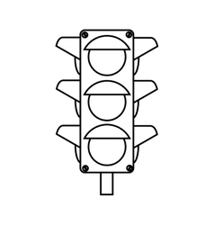 traffic lights semaphore icon vector image