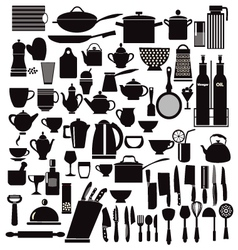 all kitchen goods kitchen and restaurant icon vector image