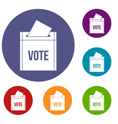 Ballot box icons set vector