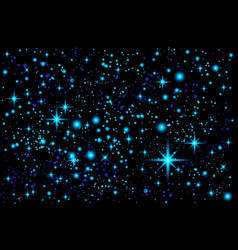 Blue abstract background night sky with stars vector
