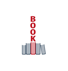 book store logo education and book emblem vector image vector image
