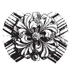 Boss keystones vintage engraving vector