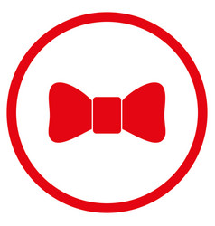 bow tie rounded icon vector image