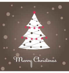 christmas tree decoration vector illustration vector image vector image