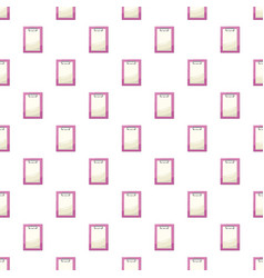clipboard with a blank sheet of paper pattern vector image vector image