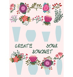 Create your bouquet vector image