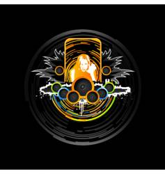 dance music design element vector image vector image