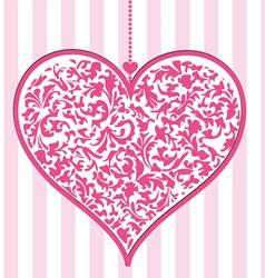 Elaborate pink heart vector