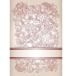 floral background retro flowers and leaves vector image vector image
