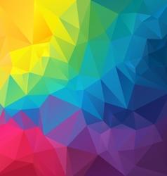 Full color rainbow spectrum polygon triangular vector