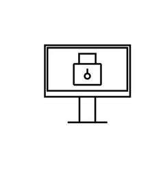 locked computer icon vector image
