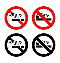 No smoking symbols set vector image vector image