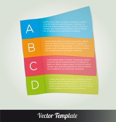 Options tab page template vector image vector image