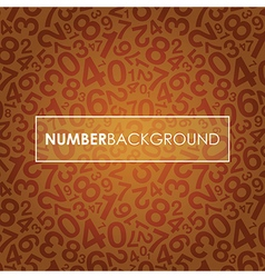 orange number background vector image vector image
