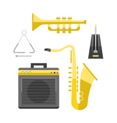 saxophone icon music classical sound instrument vector image vector image