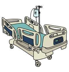 Hospital position bed vector
