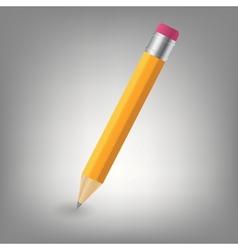 Yellow pencil icon vector image