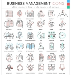 Business management ultra modern color vector
