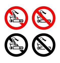 No smoking symbols vector image
