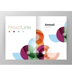 Abstract circles annual report covers vector