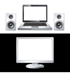 Computer isolated on white background vector