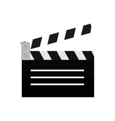 clapper film movie icon design vector image