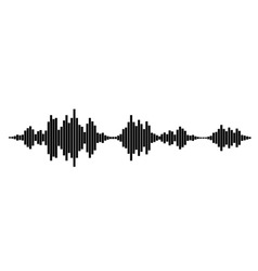 Black and white sound waves vector