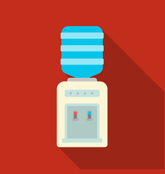 office water cooler icon in flat style isolated on vector image