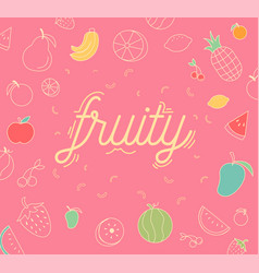 Fruity icons design set vector