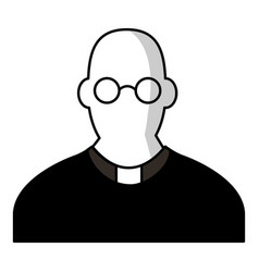 priest icon cartoon style vector image