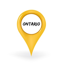 Location ontario vector