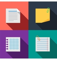 Blanks paper notes set color icons vector