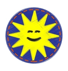 Patch with sun - for kids vector