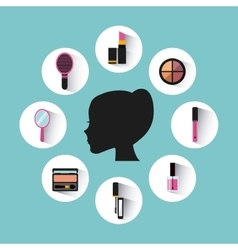 Make-up artist design vector