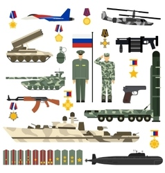 Russian army set vector